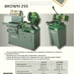 Maquinaria Industrial: Sierras Radiales Pedrazzoli Brown 250